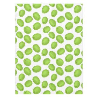 Toalha De Mesa Teste padrão com azeitonas verdes