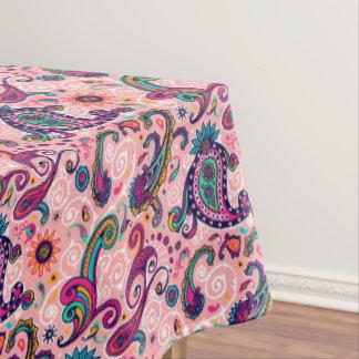 Toalha De Mesa Teste padrão cor-de-rosa bonito de Paisley