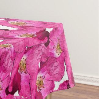 Toalha De Mesa Teste padrão cor-de-rosa das papoilas florais