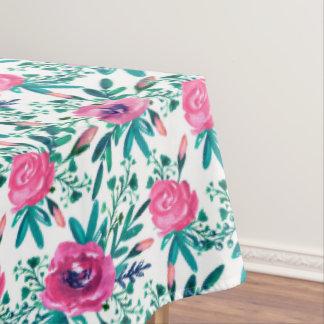 Toalha De Mesa Teste padrão cor-de-rosa dos rosas