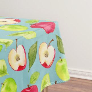 Toalha De Mesa Teste padrão das maçãs da aguarela