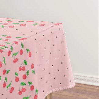 Toalha De Mesa teste padrão de bolinhas bonito do preto da cereja
