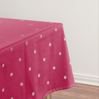 Toalha De Mesa teste padrão de bolinhas cor-de-rosa do rosa do
