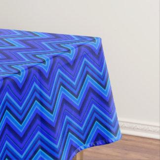 Toalha De Mesa Teste padrão de ziguezague das listras azuis