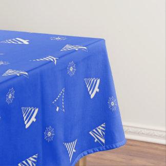 Toalha De Mesa teste padrão do azul do feriado do Natal