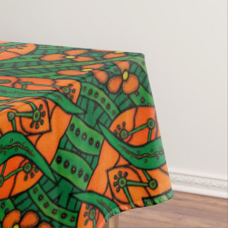 Toalha De Mesa Teste padrão do geco dos lagartos alaranjados e