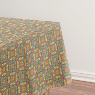 Toalha De Mesa Teste padrão do outono do crisântemo da arte