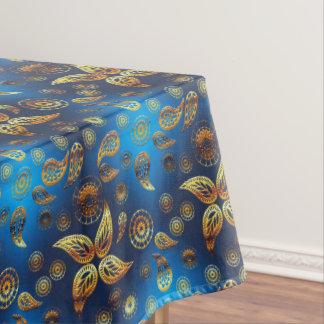 Toalha De Mesa Teste padrão dourado étnico de paisley