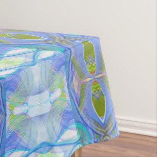 Toalha De Mesa teste padrão étnico azul do fractal