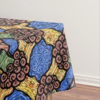 Toalha De Mesa Teste padrão floral abstrato moderno colorido