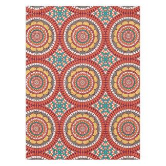 Toalha De Mesa Teste padrão floral alaranjado original do chique