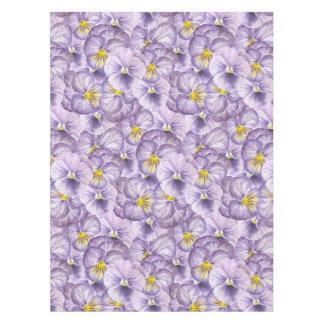 Toalha De Mesa Teste padrão floral da aguarela com pansies