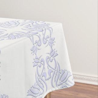 Toalha De Mesa teste padrão floral da violeta de damasco