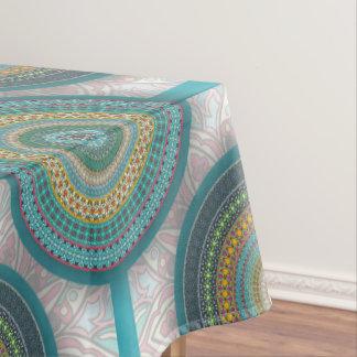 Toalha De Mesa Teste padrão floral étnico abstrato colorido da
