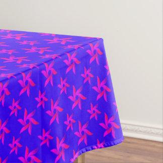 Toalha De Mesa Teste padrão geométrico decorativo azul & roxo