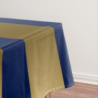 Toalha De Mesa Teste padrão geométrico do ouro & das listras