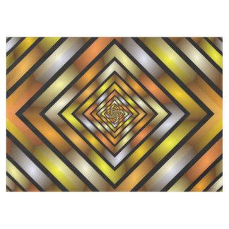 Toalha De Mesa Teste padrão gráfico colorido do Fractal do túnel