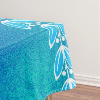 Toalha De Mesa Teste padrão grego de vidro da cerceta azul