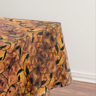 Toalha De Mesa Teste padrão moderno da silhueta das folhas de