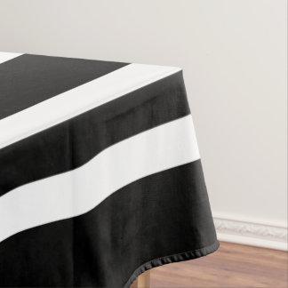 Toalha De Mesa Teste padrão preto e branco corajoso das listras
