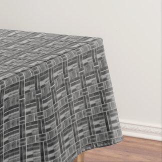 Toalha De Mesa Teste padrão preto e branco do olhar dos azulejos