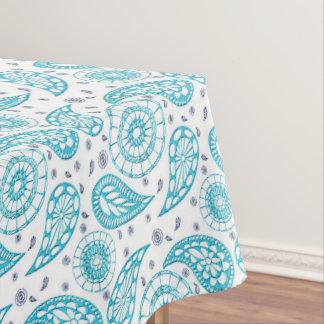 Toalha De Mesa Teste padrão sem emenda azul de Paisley