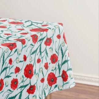 Toalha De Mesa Teste padrão sem emenda das papoilas e dos rosas