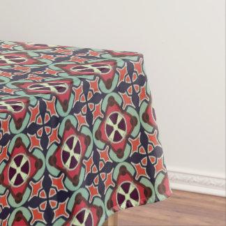 Toalha De Mesa Teste padrão sem emenda retro geométrico abstrato
