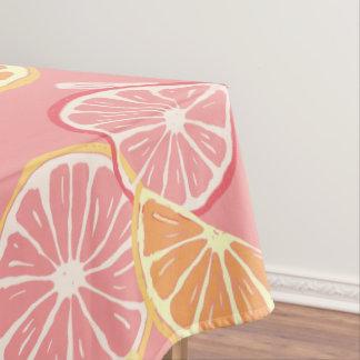 Toalha De Mesa Teste padrão tropical da toranja cor-de-rosa e do
