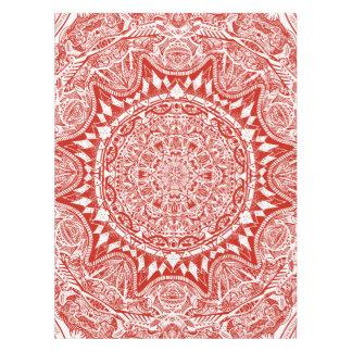 Toalha De Mesa Teste padrão vermelho da mandala