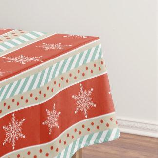 Toalha De Mesa Teste padrão vermelho dos flocos de neve da