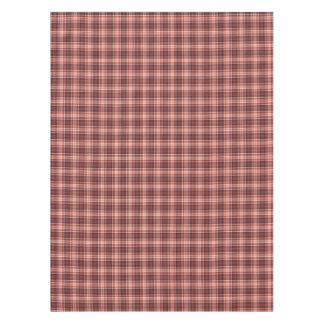 Toalha De Mesa Teste padrão vermelho e preto da xadrez