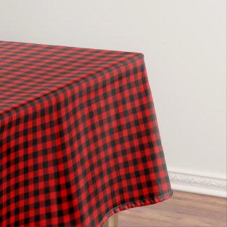 Toalha De Mesa Teste padrão vermelho tradicional da xadrez da