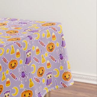 Toalha De Mesa Teste padrão violeta festivo do Dia das Bruxas com