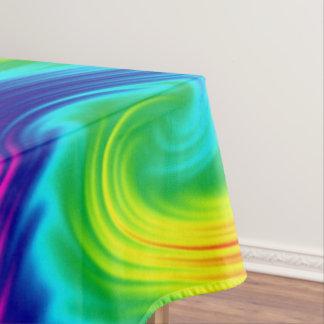 Toalha De Mesa textura abstrata do arco-íris