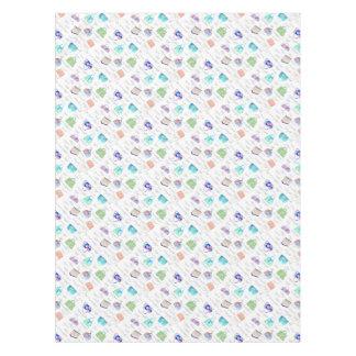 Toalha De Mesa Tipografia floral Pastel das ilustrações da
