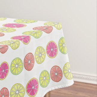 Toalha De Mesa Toranja alaranjada do limão do limão dos citrinos