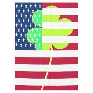 Toalha De Mesa Trevo irlandês St Patrick do trevo da bandeira