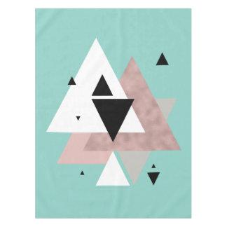 Toalha De Mesa triângulos geométricos da hortelã cor-de-rosa