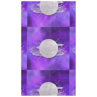 Toalha De Mesa ultravioleta, moderno, roxo, triângulo, prata, na
