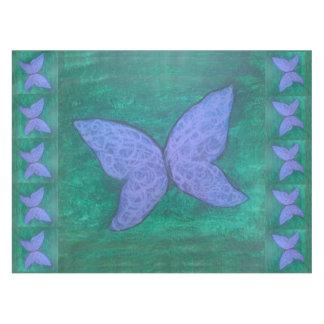 Toalha De Mesa Verde azul roxo da borboleta apaixonado da mesa |