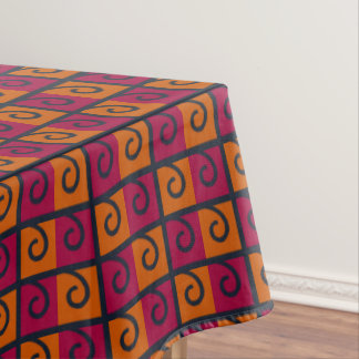 Toalha De Mesa Vermelho e laranja esquadra o Tablecloth das cores