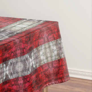 Toalha De Mesa Vermelho e listras Textured cinzas