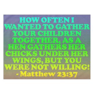 Toalha De Mesa Verso da bíblia do 23:37 de Matthew.