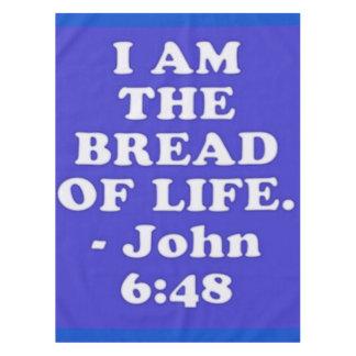 Toalha De Mesa Verso da bíblia do 6:48 de John.