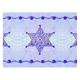 Toalha De Mesa Violeta azul da estrela de David