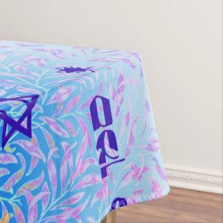 Toalha De Mesa Violeta azul de Siman Tov e de Mazal Tov