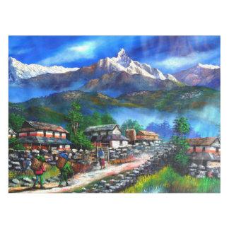 Toalha De Mesa Vista panorâmica da montanha Nepal de Everest