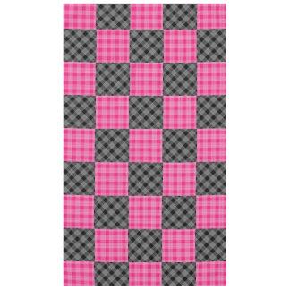 Toalha De Mesa Xadrez cor-de-rosa e preta Tabelcloth