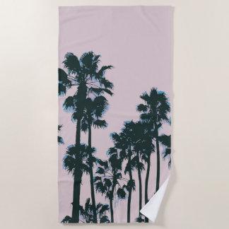 Toalha De Praia Pink Palms Towel